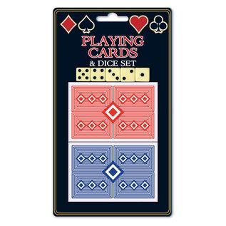 speelkaarten en dobbelstenen set