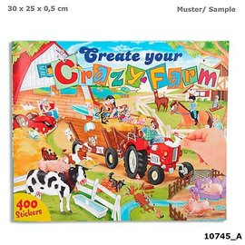 TopModel Create your Crazy Farm drawing boek