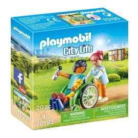 Playmobil Playmobil - Patient in rolstoel (70193)