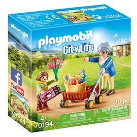 Playmobil Playmobil - Oma met rollator (70194)
