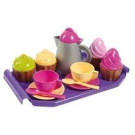 Theeservies met cupcakes