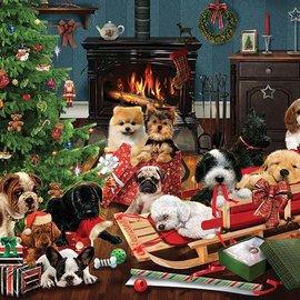 Cobble Hill Cobble Hill Christmas Puppies (500 XL stukjes)