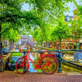Bluebird Bluebird puzzle The Red Bike in Amsterdam (1000 stukjes)