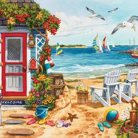 Sunsout SunsOut puzzel Beach Summer Cottage (1000 stukjes)