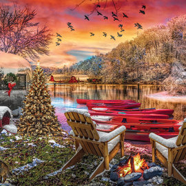 Sunsout SunsOut puzzel Christmas Eve Camping (1000 stukjes)