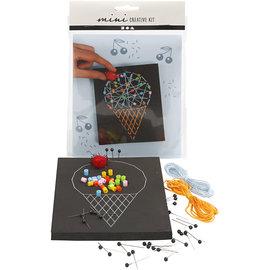 Mini Creatieve Set, string art - ijsje