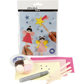 Hobbygroep Mini Creatieve Set, ijsstokjesfiguren - prinsessen