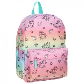 Vadobag Rugzak Milky Kiss Rainbows And Unicorns groot