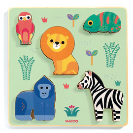 Djeco Djeco 1058 Relief puzzel - Dieren