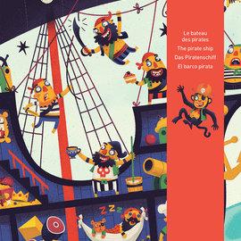 Djeco Djeco 7129 Reuzenpuzzel - Het piratenschip (36 stukjes)