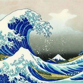 Piatnik The Great Wave off Kanagawa - Katsushika Hokusai (1000 stukjes)