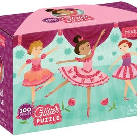 Mudpuppy Mudpuppy glitterpuzzel Ballerina (100 stukjes)