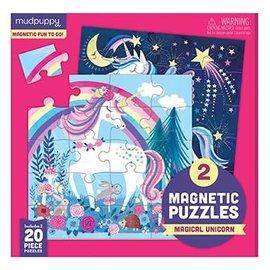 Mudpuppy Mudpuppy 2 magnetische puzzels magische eenhoorn