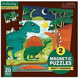 Mudpuppy Mudpuppy 2 magnetische puzzels dinos (2 x 20 stukjes)