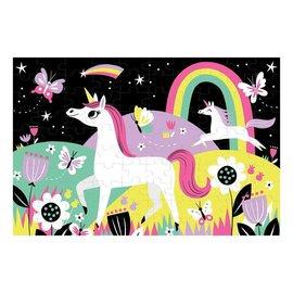Mudpuppy Glow in the dark puzzel Unicorns (100 stukjes)