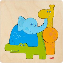 Haba Haba 304609 Houten puzzel - Zoo dieren