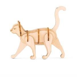 Kikkerland Houten 3D puzzel Op de boerderij - Kat