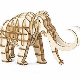 Kikkerland Houten 3D puzzel - Mammoet