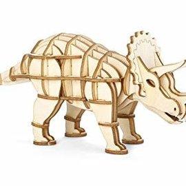 Kikkerland Houten 3D puzzel - Triceratops