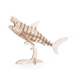 Kikkerland Houten 3D puzzel - Haai