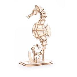 Kikkerland Houten 3D puzzel - Zeepaardje
