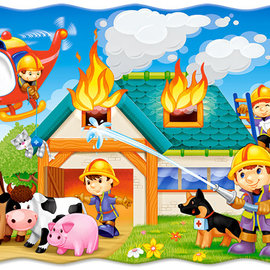 Castorland Castorland puzzel Fire Brigade in Action (30 stukjes)