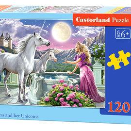 Castorland Castorland puzzel Princess and her Unicorns (120 stukjes)