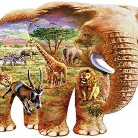 Wentworth Wentworth houten puzzel - Elephant Savanna, Adrian Chesterman (250 stukjes)
