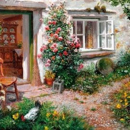 Wentworth Wentworth houten puzzel - Roses Around the Door, Stephen Darbishire (40 stukjes)