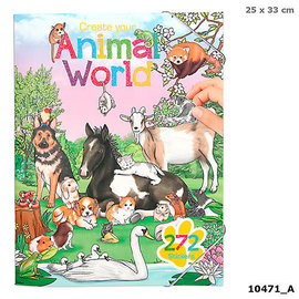 TopModel Create Your Animal World Colouring Book