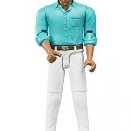 Bruder Bruder Bworld man: donker, bruin, witte jeans