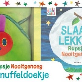 Boek Slaap lekker Rupsje Nooitgenoeg - met knuffeldoekje in cadeaudoos