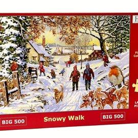 The House of Puzzles The House of Puzzles puzzel - Snowy Walk (500 XL stukjes)