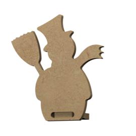 Gomille MDF figuur - Sneeuwpop staand (4 stuks)