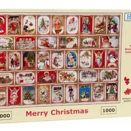The House of Puzzles The House of Puzzles puzzel - Merry Christmas (1000 stukjes)
