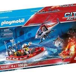 Playmobil Playmobil - Brandweermissie met helikopter 70335