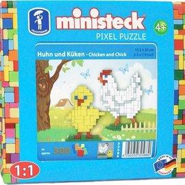 Ministeck Ministeck Kip en kuiken ca. 300 stukjes