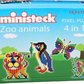 Ministeck Ministeck Dierentuin dieren 4in1 ca. 500 stukjes