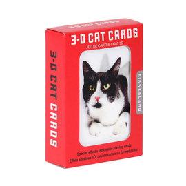 Kikkerland Kikkerland speelkaarten kat 3D