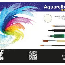 Kangaro Kangaro blok aquarelpapier 24x17cm 300 gram 16 vel roomwit