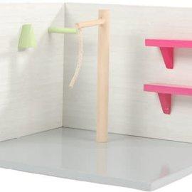 Kids globe Kids Globe paarden wasbox 15x17,5x12cm 1:24 roze (excl. accessoires)