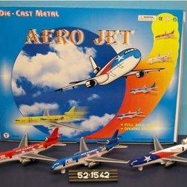 Die Cast pull back 'Aero Jet' 6 ass 19,5 cm