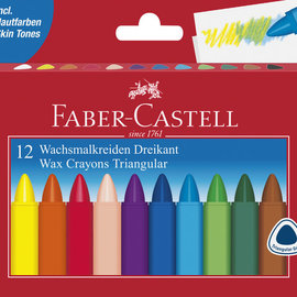 Faber-Castell Faber Castell waskrijt driehoek etui à 12 stuks.