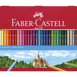 Faber-Castell Faber-Castell kleurpotlood Castle zeskantig metalen etui met 36 stuks