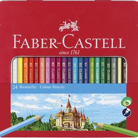 Faber-Castell Faber-Castell kleurpotlood Castle zeskantig metalen etui met 24 stuks