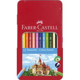Faber-Castell Faber-Castell kleurpotlood Castle zeskantig metalen etui met 12 stuks  vorigevolgende