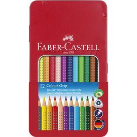 Faber-Castell Faber-Castell kleurpotlood GRIP metalen etui a 12 stuks