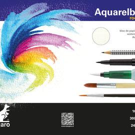 Kangaro Kangaro blok aquarelpapier 32x24cm 300 gram 16 vel roomwit