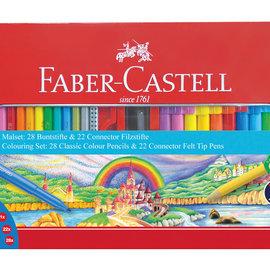 Faber-Castell Faber-Castell cadeauset 53-delig in metalen doos