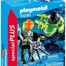 Playmobil Playmobil - Agent met drone (70248)